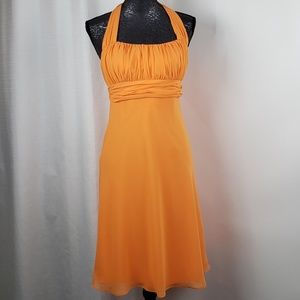 David's Bridal Bridesmaid Dress orange Size 4